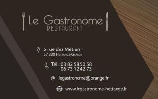Logo + carte de visite Gastronome
