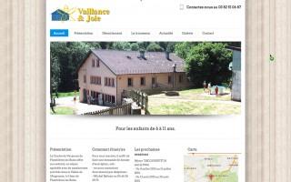 Site internet Vaillance et Joie